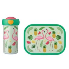 Mepal Schoolbeker en Lunchbox Tropical Flamingo
