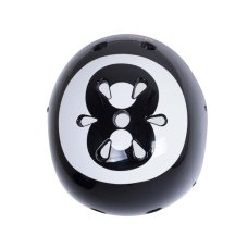 Kiddimoto Kinderhelm 8-ball Zwart Small