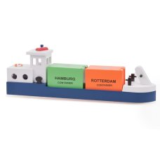 New Classic Toys Binnenschip met 2 Containers