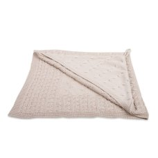 Baby's Only Omslagdoek Chenille Cable Beige