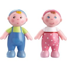 Haba Little Friends Poppenhuis Pop baby Marie en Max
